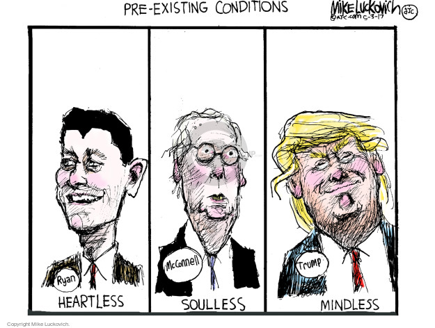 Cartoonist Mike Luckovich  Mike Luckovich's Editorial Cartoons 2017-05-03 Mitch