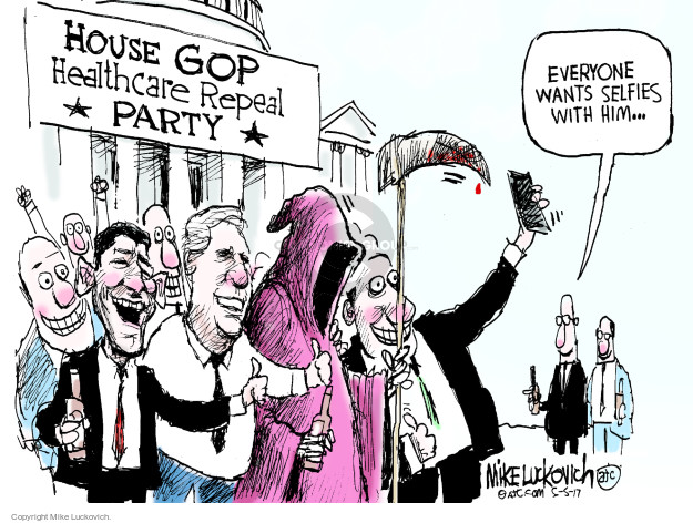 House GOP Healthcare Repeal Party. Everyone wants selfies with him …