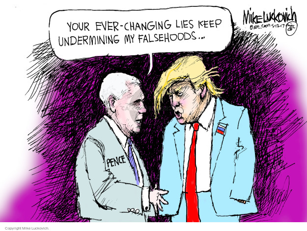 Mike Luckovich  Mike Luckovich's Editorial Cartoons 2017-05-12 Mike Pence