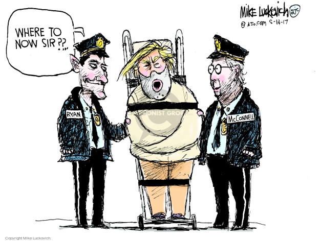 Cartoonist Mike Luckovich  Mike Luckovich's Editorial Cartoons 2017-05-14 Mitch