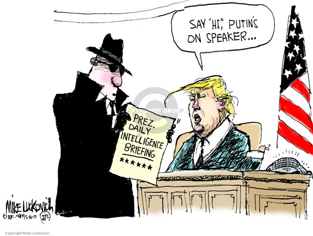 Cartoonist Mike Luckovich  Mike Luckovich's Editorial Cartoons 2017-05-16 Presidency