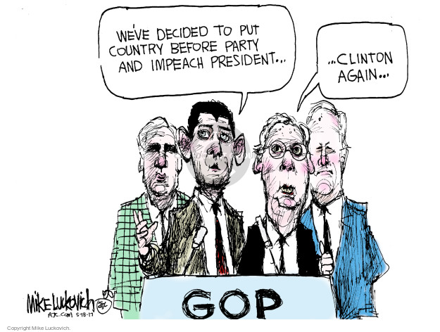 Mike Luckovich  Mike Luckovich's Editorial Cartoons 2017-05-18 Trump Impeachment