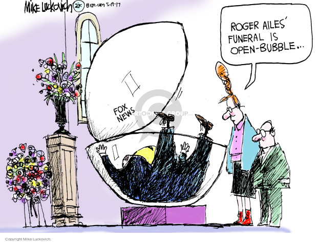 Cartoonist Mike Luckovich  Mike Luckovich's Editorial Cartoons 2017-05-19 Roger
