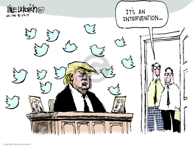 Cartoonist Mike Luckovich  Mike Luckovich's Editorial Cartoons 2017-06-06 president