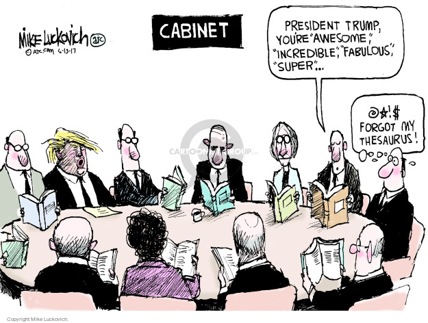 Cartoonist Mike Luckovich  Mike Luckovich's Editorial Cartoons 2017-06-13 Trump administration