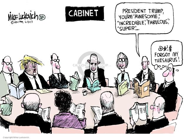 Cartoonist Mike Luckovich  Mike Luckovich's Editorial Cartoons 2017-06-13 Presidency