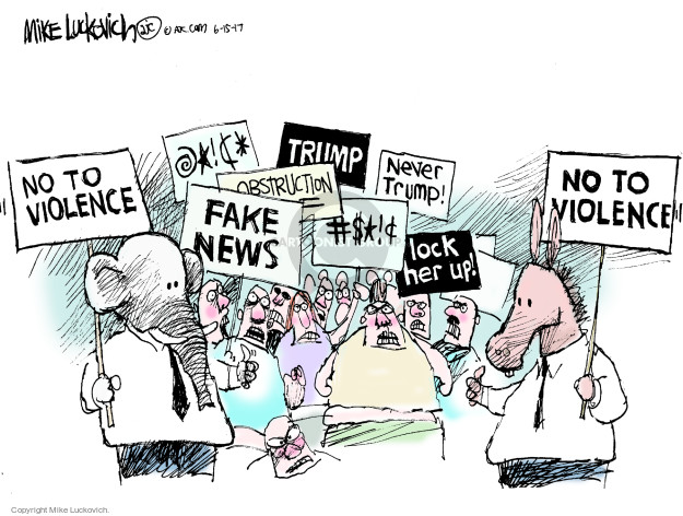 Cartoonist Mike Luckovich  Mike Luckovich's Editorial Cartoons 2017-06-15 fake