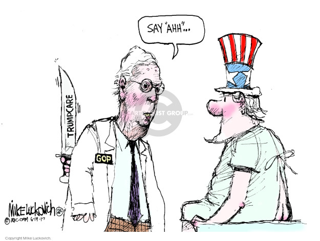 Mike Luckovich  Mike Luckovich's Editorial Cartoons 2017-06-20 Mitch McConnell