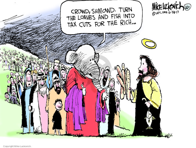 Cartoonist Mike Luckovich  Mike Luckovich's Editorial Cartoons 2017-06-28 tax