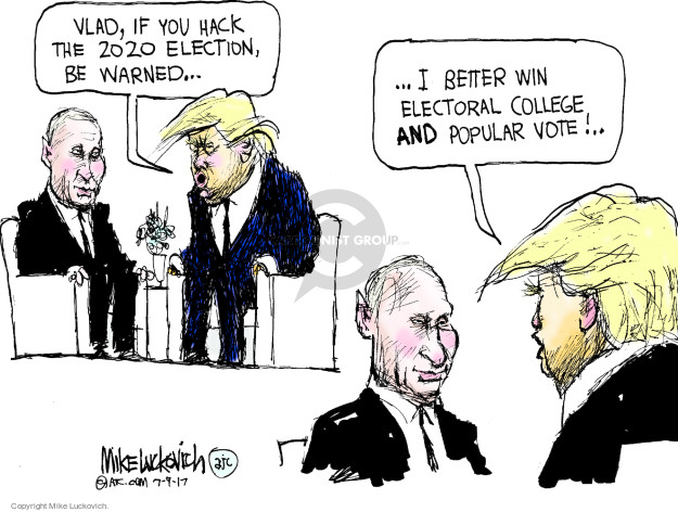 Cartoonist Mike Luckovich  Mike Luckovich's Editorial Cartoons 2017-07-09 election