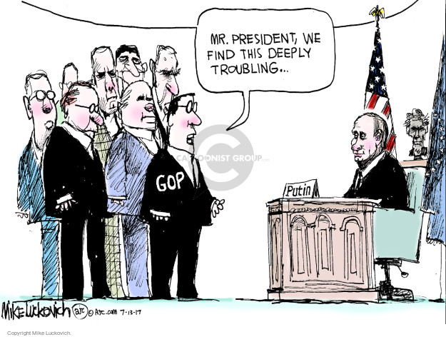 Cartoonist Mike Luckovich  Mike Luckovich's Editorial Cartoons 2017-07-13 Presidency