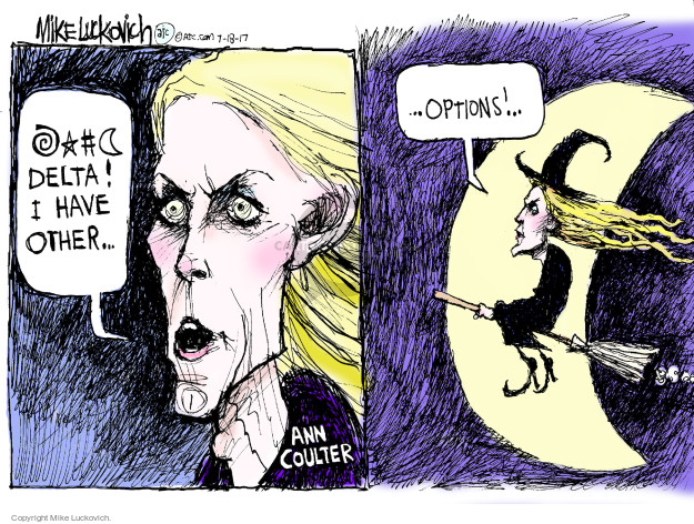 Cartoonist Mike Luckovich  Mike Luckovich's Editorial Cartoons 2017-07-18 seat