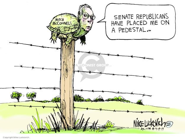 Mike Luckovich  Mike Luckovich's Editorial Cartoons 2017-07-19 senate majority leader