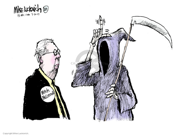 Mike Luckovich  Mike Luckovich's Editorial Cartoons 2017-07-30 Mitch McConnell