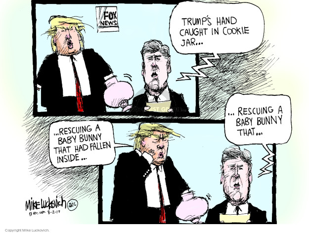 Cartoonist Mike Luckovich  Mike Luckovich's Editorial Cartoons 2017-08-02 Presidency