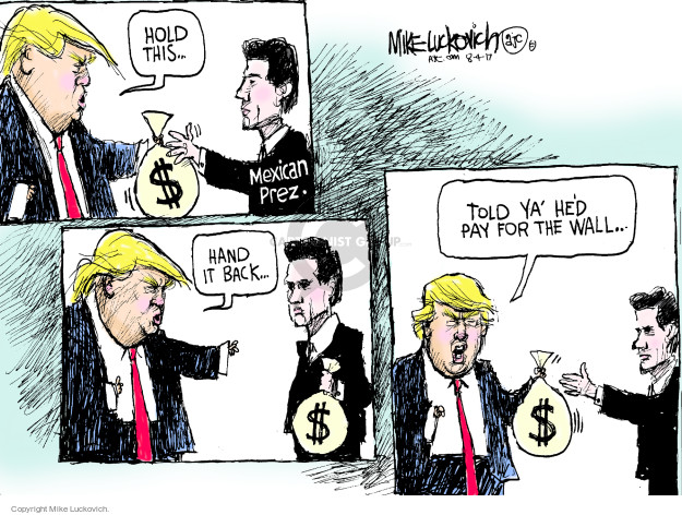 Cartoonist Mike Luckovich  Mike Luckovich's Editorial Cartoons 2017-08-04 Presidency