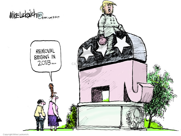 Mike Luckovich  Mike Luckovich's Editorial Cartoons 2017-08-18 Trump administration