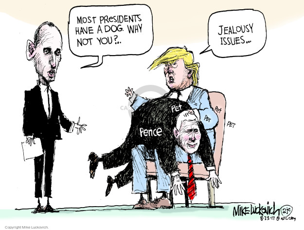 Mike Luckovich  Mike Luckovich's Editorial Cartoons 0000-00-00 Donald Trump and Mike Pence