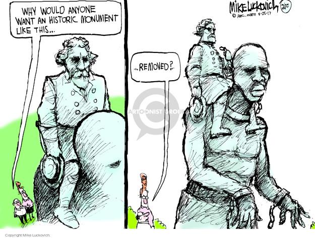 Cartoonist Mike Luckovich  Mike Luckovich's Editorial Cartoons 2017-08-25 racial