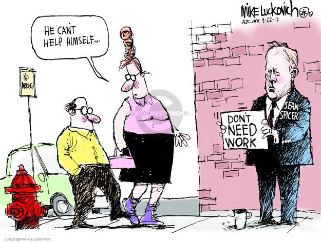 Cartoonist Mike Luckovich  Mike Luckovich's Editorial Cartoons 2017-09-22 Sean Spicer