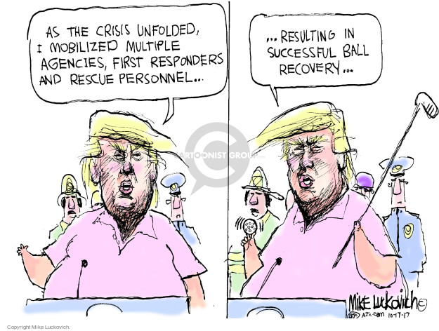 Mike Luckovich  Mike Luckovich's Editorial Cartoons 2017-10-17 hurricane