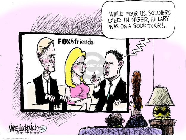 Cartoonist Mike Luckovich  Mike Luckovich's Editorial Cartoons 2017-10-20 armed forces