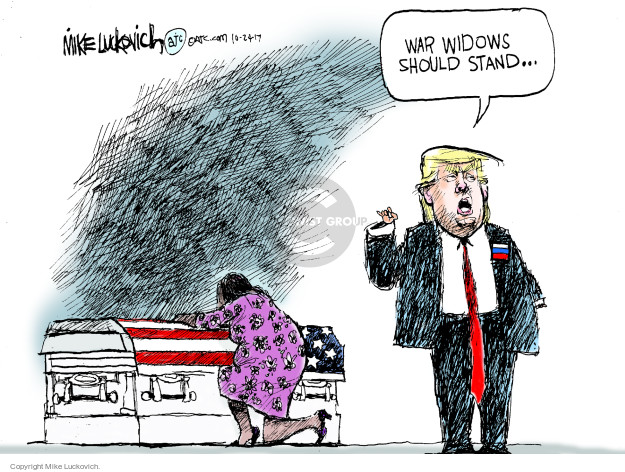 Mike Luckovich  Mike Luckovich's Editorial Cartoons 2017-10-24 armed forces