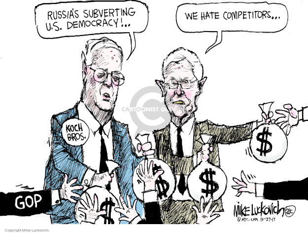 Cartoonist Mike Luckovich  Mike Luckovich's Editorial Cartoons 2017-10-27 Charles