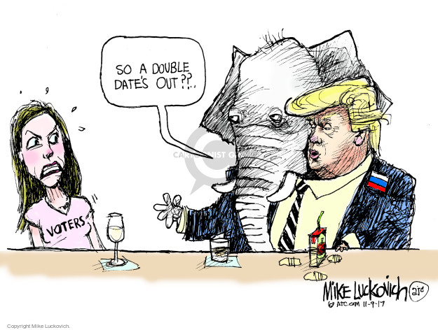 Cartoonist Mike Luckovich  Mike Luckovich's Editorial Cartoons 2017-11-09 Presidency