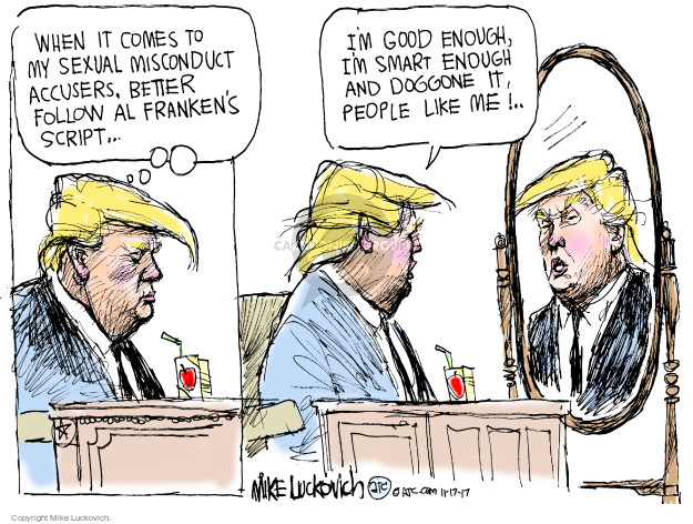 Cartoonist Mike Luckovich  Mike Luckovich's Editorial Cartoons 2017-11-17 sexually
