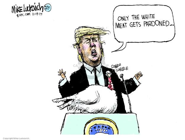 Cartoonist Mike Luckovich  Mike Luckovich's Editorial Cartoons 2017-11-19 race
