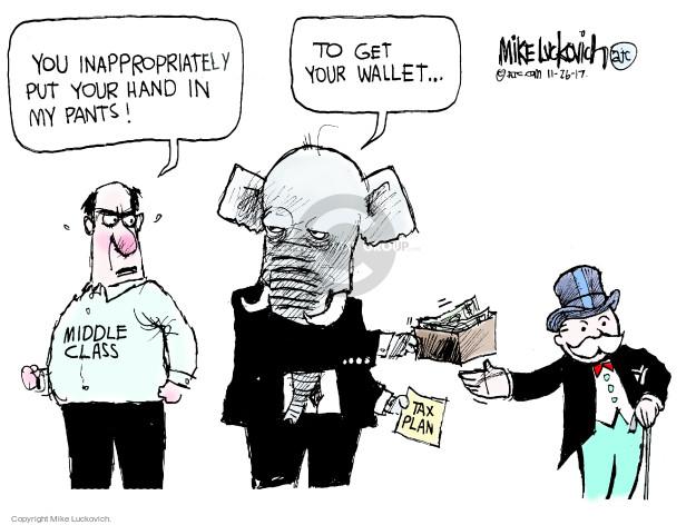 Mike Luckovich  Mike Luckovich's Editorial Cartoons 2017-11-23 legislative branch