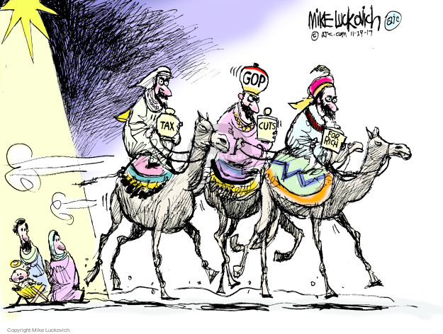 Cartoonist Mike Luckovich  Mike Luckovich's Editorial Cartoons 2017-11-29 tax