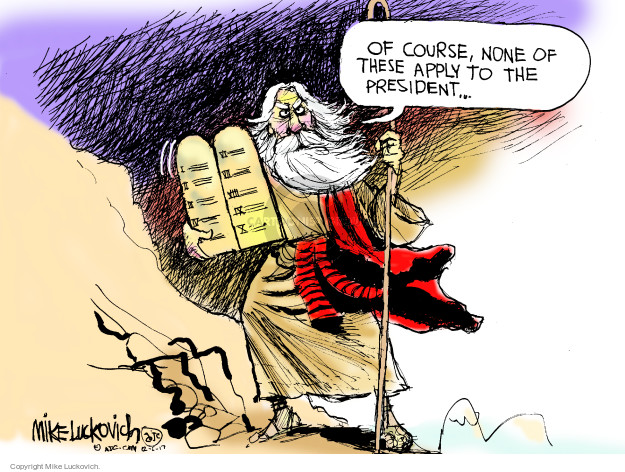 Cartoonist Mike Luckovich  Mike Luckovich's Editorial Cartoons 2017-12-05 political behavior