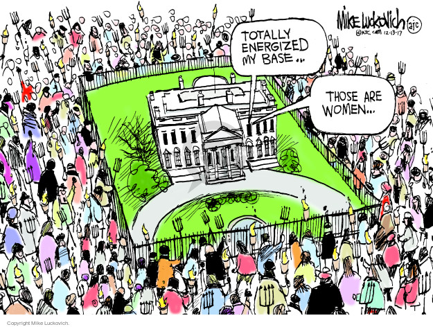 Cartoonist Mike Luckovich  Mike Luckovich's Editorial Cartoons 2017-12-13 sexual harassment