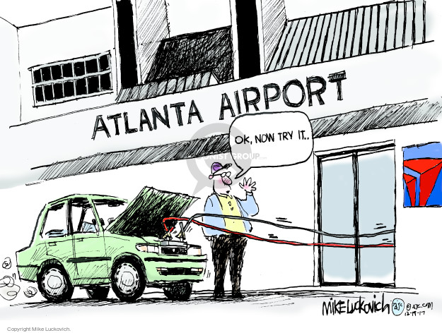Cartoonist Mike Luckovich  Mike Luckovich's Editorial Cartoons 2017-12-19 light