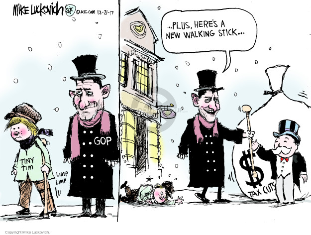 Mike Luckovich  Mike Luckovich's Editorial Cartoons 2017-12-21 Tim Ryan