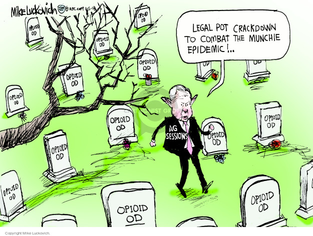 Cartoonist Mike Luckovich  Mike Luckovich's Editorial Cartoons 2018-01-05 legal