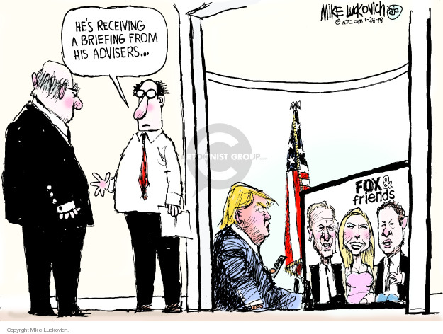 Cartoonist Mike Luckovich  Mike Luckovich's Editorial Cartoons 2018-01-28 media bias