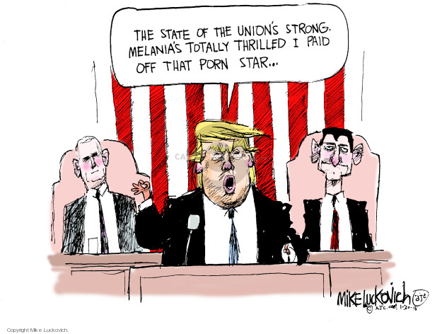 Cartoonist Mike Luckovich  Mike Luckovich's Editorial Cartoons 2018-01-30 Presidency