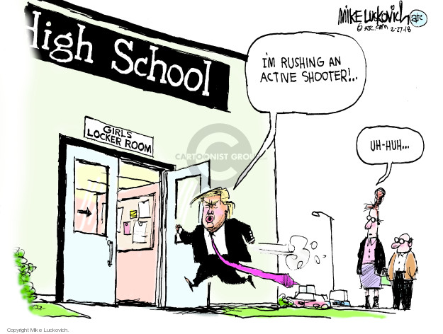 Mike Luckovich  Mike Luckovich's Editorial Cartoons 2018-02-27 assault weapon
