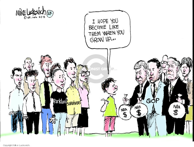 Mike Luckovich  Mike Luckovich's Editorial Cartoons 2018-03-02 assault weapon