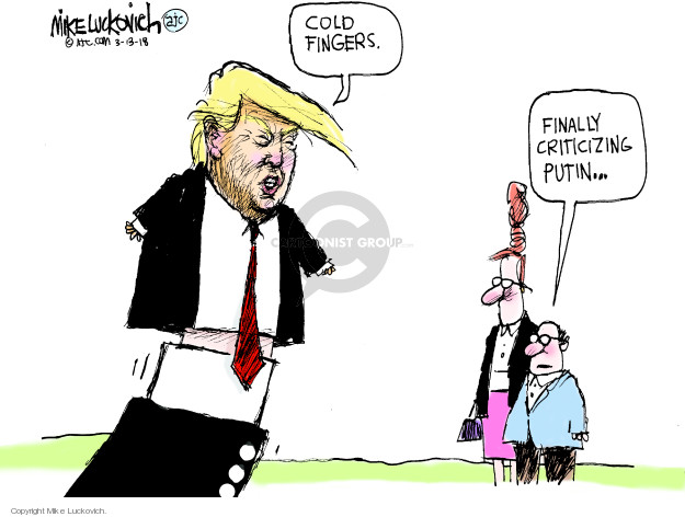 Cartoonist Mike Luckovich  Mike Luckovich's Editorial Cartoons 2018-03-13 tie