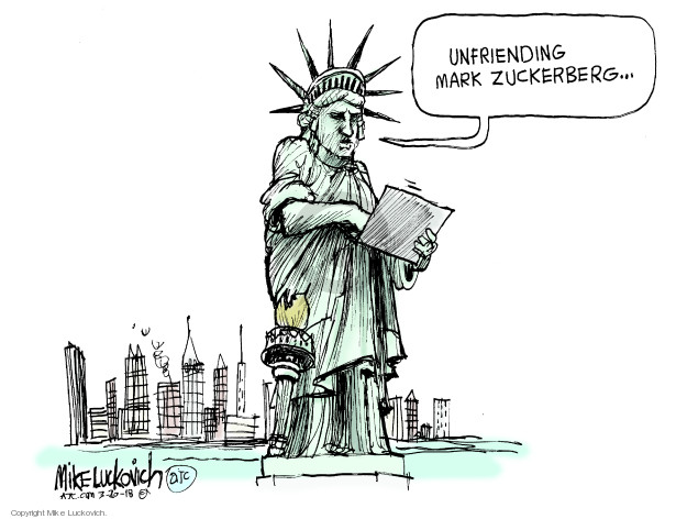 Cartoonist Mike Luckovich  Mike Luckovich's Editorial Cartoons 2018-03-20 liberty