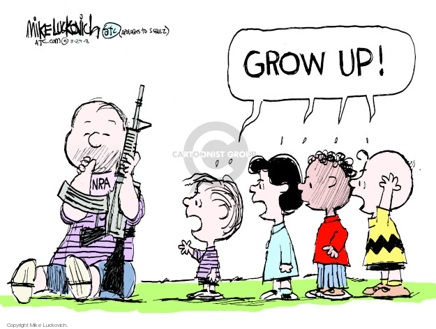 Mike Luckovich  Mike Luckovich's Editorial Cartoons 2018-03-29 assault weapon