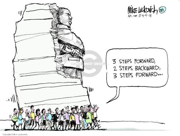 Cartoonist Mike Luckovich  Mike Luckovich's Editorial Cartoons 2018-04-04 monument