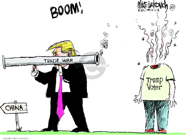 Cartoonist Mike Luckovich  Mike Luckovich's Editorial Cartoons 2018-04-05 voter