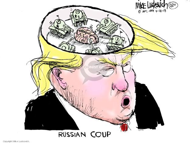 Cartoonist Mike Luckovich  Mike Luckovich's Editorial Cartoons 2018-04-18 president
