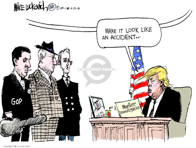 Cartoonist Mike Luckovich  Mike Luckovich's Editorial Cartoons 2018-04-20 counsel