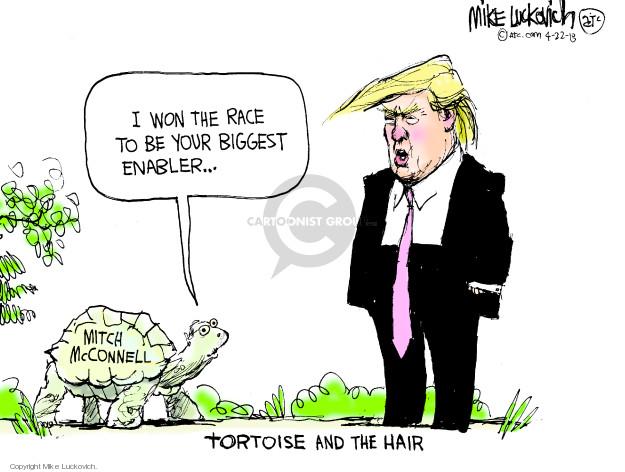 Mike Luckovich  Mike Luckovich's Editorial Cartoons 2018-04-22 republican politician